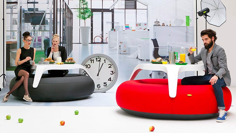 Ilration For Article Led An Inflatable Table That Lets You Work On A Cushion Of Air