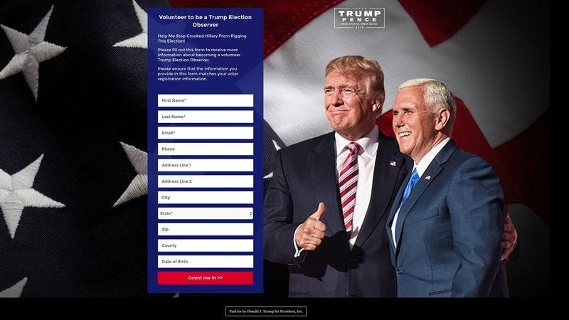 Illustration for article titled Trump Campaign Training Poll Watchers To Spot Any Suspicious Skin Colors On Election Day