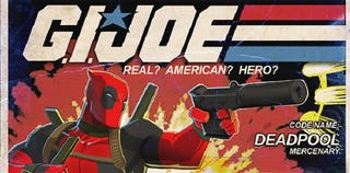 Illustration for article titled Even Deadpool's Not Sure How He Ended Up as a G.I. Joe Figure
