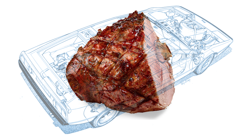 Illustration for article titled Cars With Hams Instead Of Engines