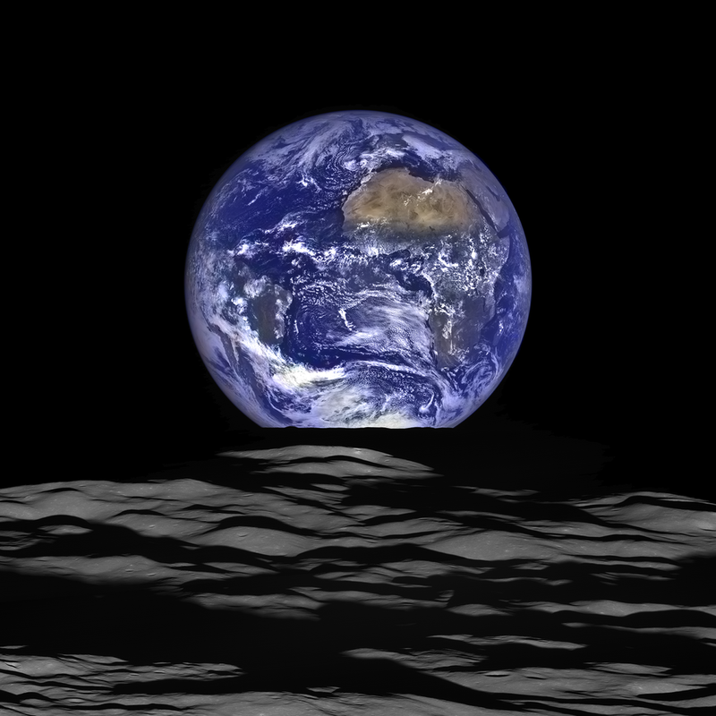 Illustration for article titled What an Earthrise Looks Like from the Surface of the Moon
