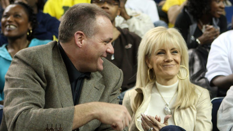 Rodriguez and his wife, Rita, back when he coached at Michigan.