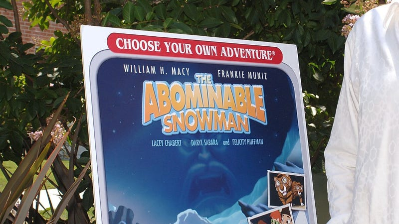 From the 2006 release party for Choose Your Own Adventure: The Abominable Snowman, which tried the same thing 12 years ago on DVD.