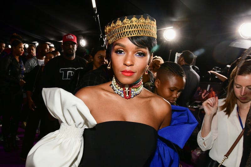 Janelle Monáe attends the premiere of Disney and Marvel's Black Panther at Dolby Theatre on Jan. 29, 2018, in Hollywood, Calif. (Emma McIntyre/Getty Images)