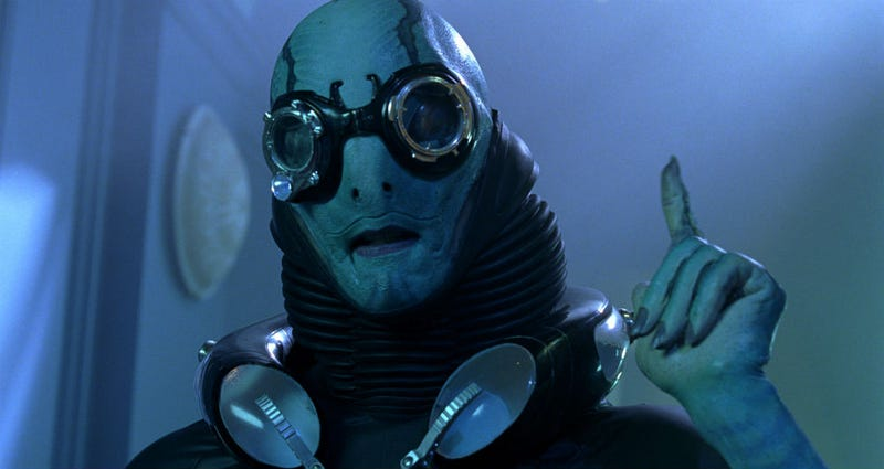 Doug Jones as Abe Sapien in Hellboy 2. Sounds like he plays a similar character in del Toro's latest.