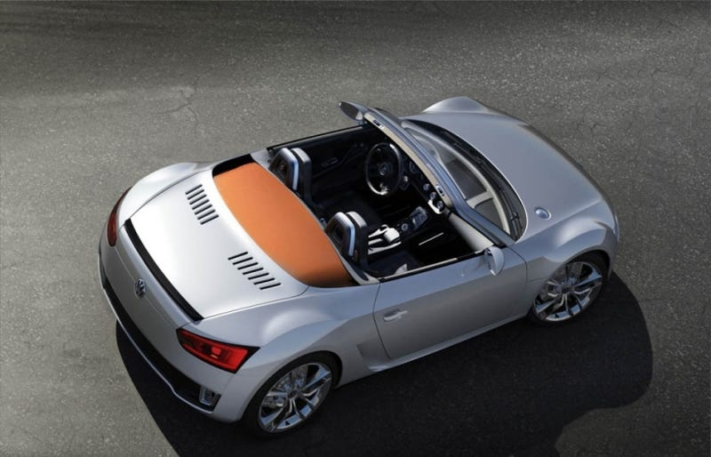 Illustration for article titled VW Bluesport Roadster: The Mid-Engined Diesel Sportscar