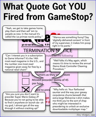 Illustration for article titled How Did You Get Fired From GameStop?
