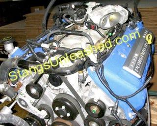 Illustration for article titled Spy Photos: Bullitt Mustang Engine