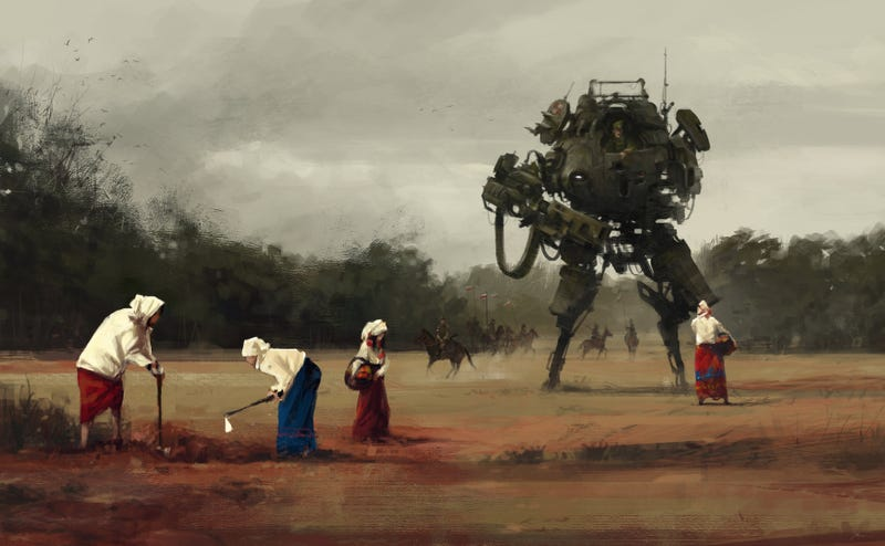 Illustration for article titled You're In A Giant Robot Suit. You Could Be Helping, You Know