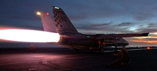Illustration for article titled How To Successfully Get Launched Off A Carrier At Night In A F-14 Tomcat
