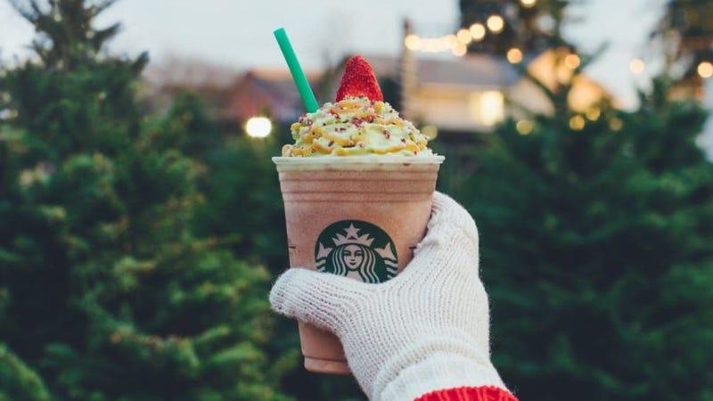 Starbuck's Christmas Tree Frappuccino® Blended Crème, image via Starbucks.