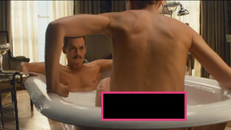 Illustration for article titled Mortdecai recut for a PG-13 release, probably by removing mustache jokes