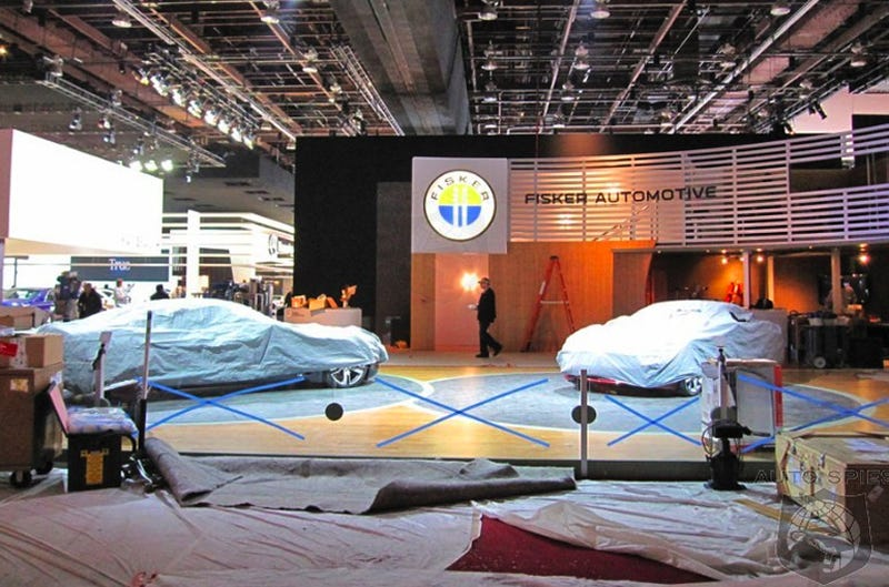 Illustration for article titled Fisker Karma S Sunset Concept Spied On Detroit Auto Show Floor