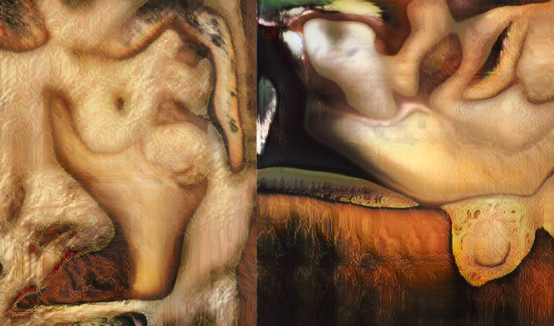 Illustration for article titled AI Imagines Nude Paintings as Terrifying Pools of Melting Flesh