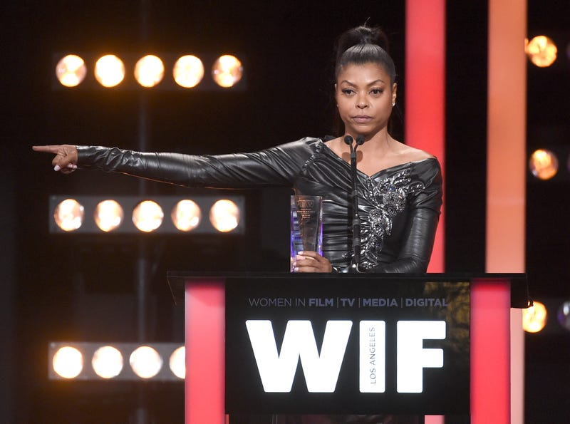 Taraji P. Henson accepts the Lucy Award for Excellence in Television at the Women In Film 2016 Crystal + Lucy Awards June 15, 2016, in Beverly Hills, Calif.Kevin Winter/Getty Images