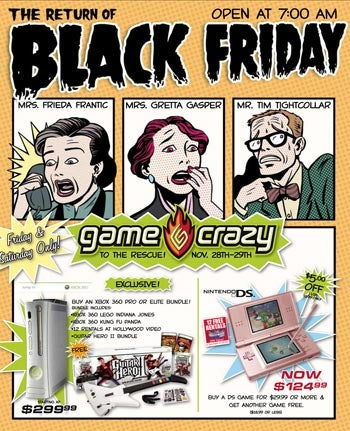 Illustration for article titled Game Crazy's Black Friday Ad Elicits Thrills, Chills