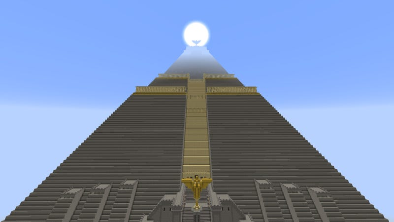 Illustration for article titled The Great Pyramid from Game of Thrones, Recreated in Minecraft