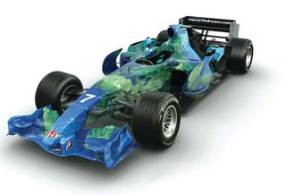 Illustration for article titled The World IS Enough: Honda's Envirogastic 2007 Formula 1 Livery