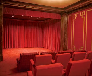 Illustration for article titled White House Home Theater Reveals Laura Bush's Bordello Tastes