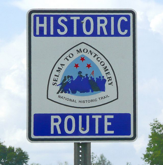Selma to Montgomery National Historic Trail signWikimedia Commons