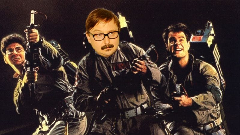 Illustration for article titled UPDATE: John Hodgman drops very specific hint that he was asked to be in Ghostbusters 3, then confirms he was just joking