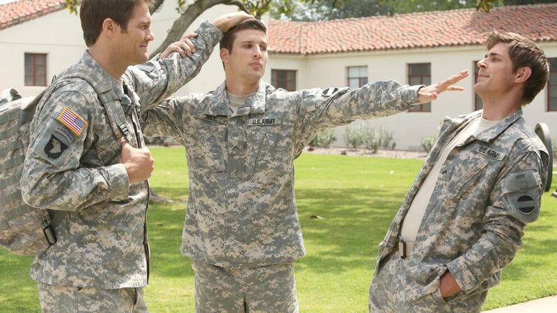 Geoff Stults (left), Parker Young, Chris Lowell (Fox)