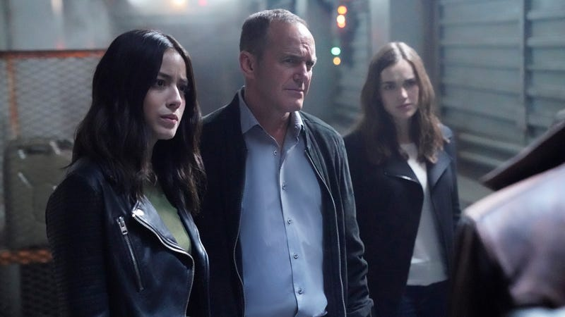 Chloe Bennet, Clark Gregg, and Elizabeth Henstridge in Agents Of S.H.I.E.L.D. (Photo: ABC/Jennifer Clasen)