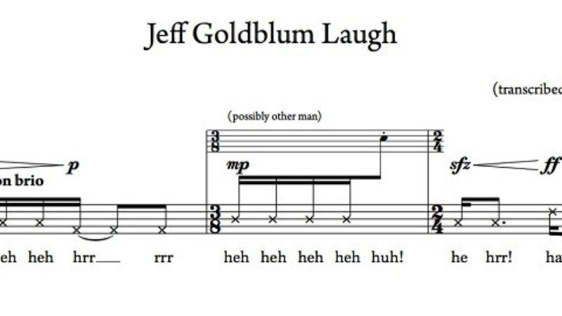 Illustration for article titled Now you can play Jeff Goldblum's weird laugh from Jurassic Park on any instrument