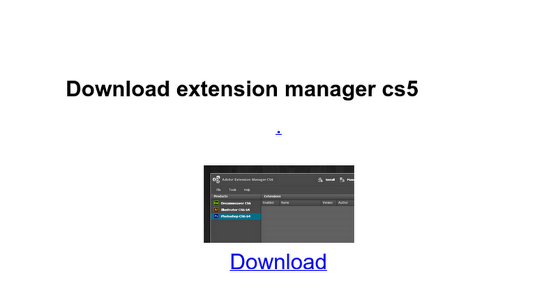 download adobe extension manager cc crack