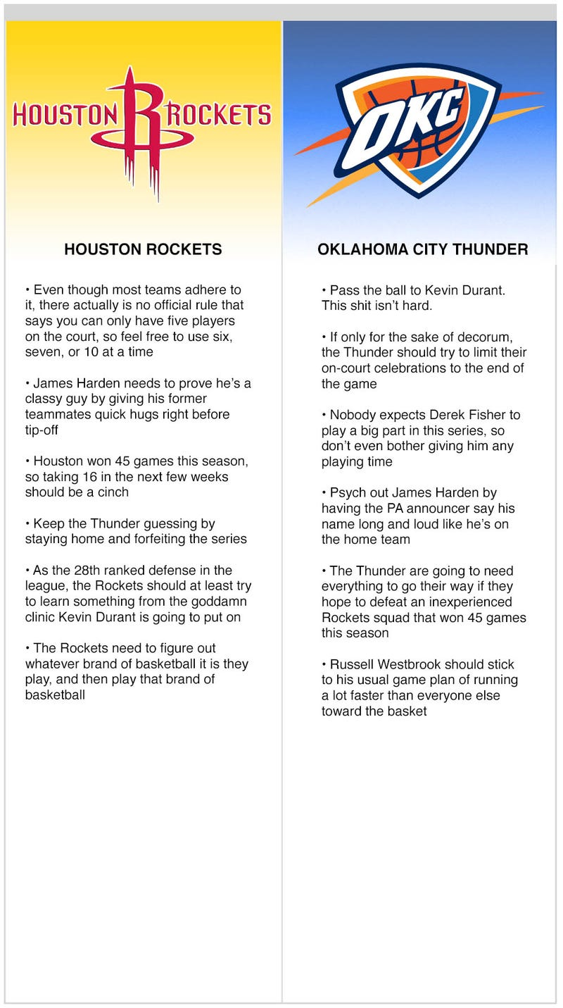 Illustration for article titled Rockets vs. Thunder