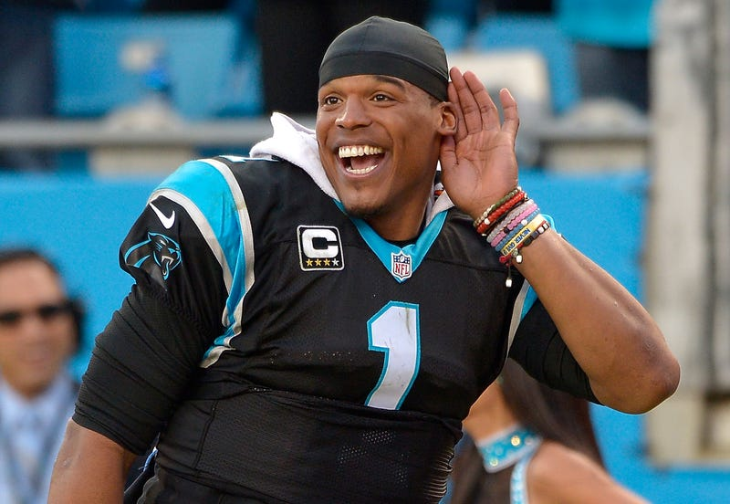 Cam Newton of the Carolina Panthers in 2015Grant Halverson/Getty Images