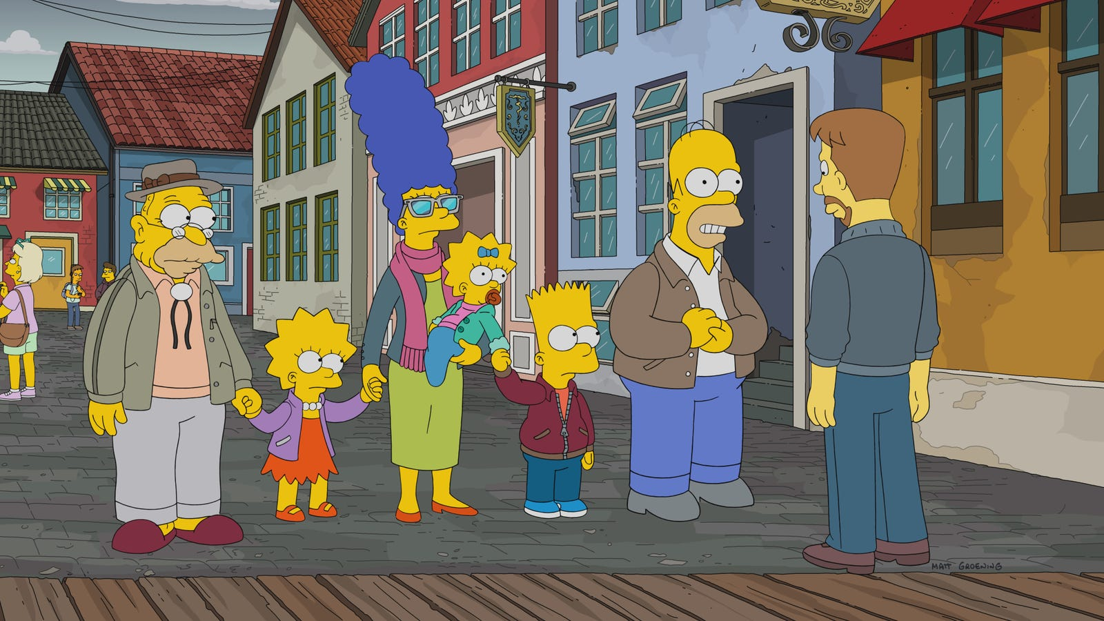 The Simpsons take Grandpa to Denmark for cheap medical treatment and some serious déjà vu