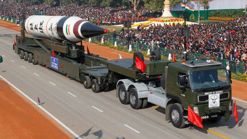 Illustration for article titled India's New Long-Range Missile Can Reach Beijing, Europe, and Beyond