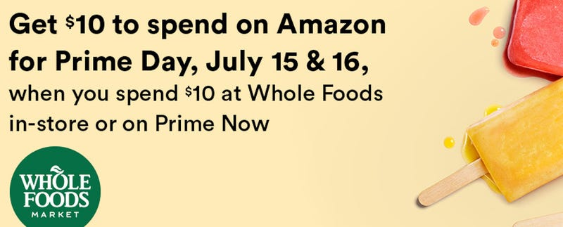 Spend $10 at Whole Foods, Get $10 | Amazon