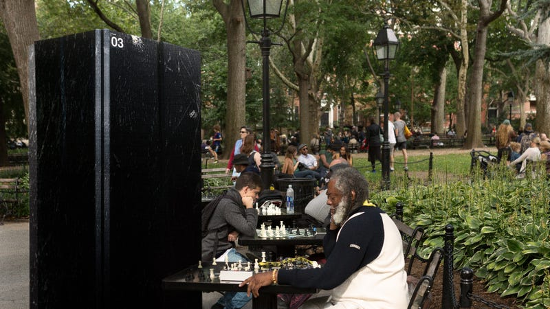 Illustration for article titled Passersby Feel Sorry For Aging Deep Blue Sitting At Washington Square Park Chess Table All Day