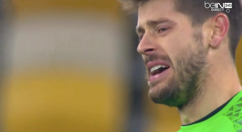 Illustration for article titled Keeper Gives Up Four Goals In The First Half, Starts Openly Crying