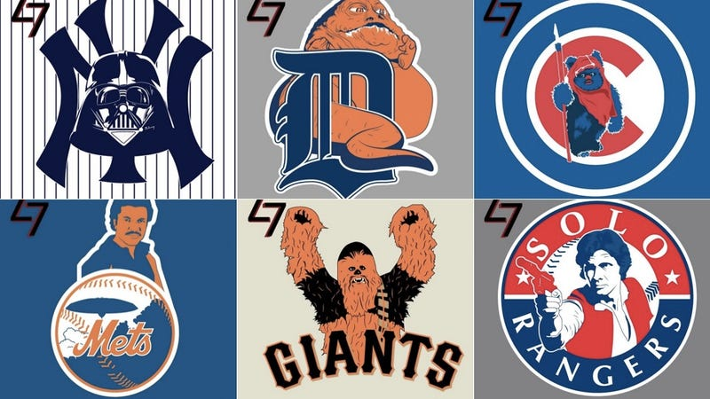Illustration for article titled MLB Team Logos Redesigned As Star Wars Characters