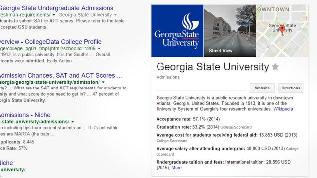 Google Shows College Scorecard Information When You Search For Universities