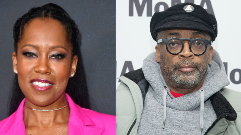 (l) Regina King attends Variety's Power Of Women: Los Angeles; (r) Director Spike Lee attends MoMA's Contenders Screening of 'BlacKkKlansman'