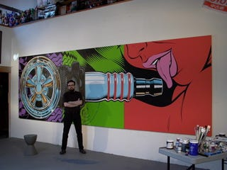 Illustration for article titled Yes, Please Lick the Plug: Coop's 78-Foot Painting