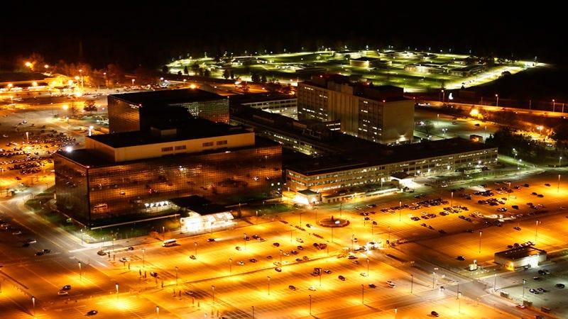 Vista aérea del cuartel general de la NSA. Foto: Trevor Paglen/Creative Time/Wikipedia.