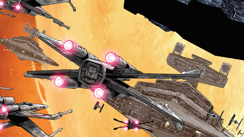 Rogue Squadron takes flight for the first time in Star Wars #52.