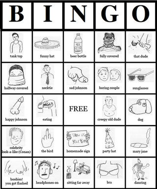 Illustration for article titled Play the Chatroulette Bingo Now and Win... Win... HEY, EVERYBODY WINS!