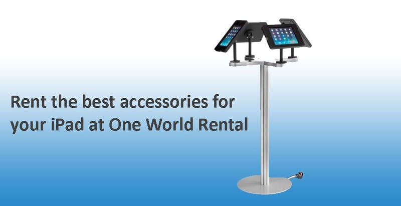Illustration for article titled Rental fee the very best accessories for your iPad at one globe service