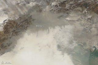 Illustration for article titled Así se ve la asfixiante contaminación en Pekín desde el espacio