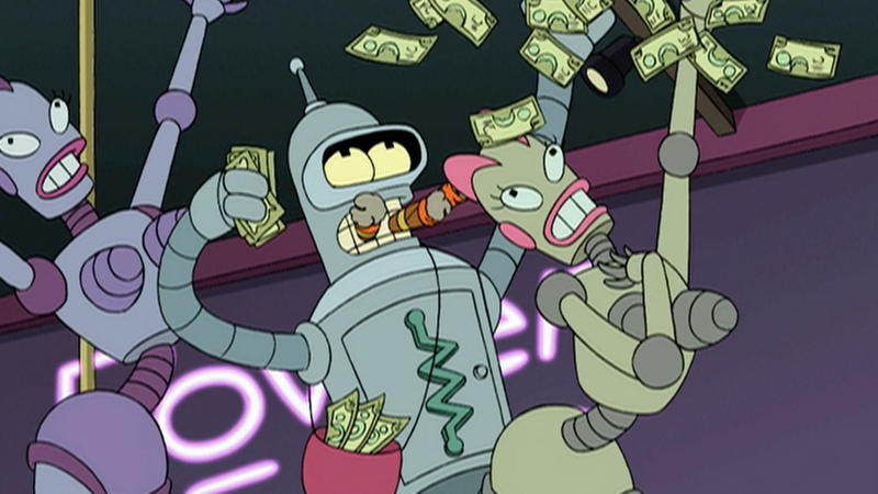 Illustration for article titled Futurama's Bender Reads Chuck Tingle Porn, Shiny Metal Asses Likely Get Bitten