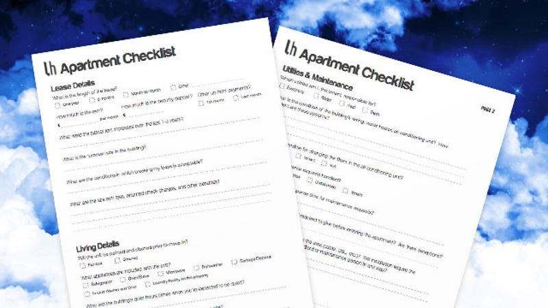 Bring This Checklist With You Next Time YouRe Apartment Hunting