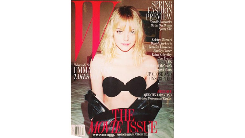 Illustration for article titled Emma Stone's Bra Stars on the Cover of W
