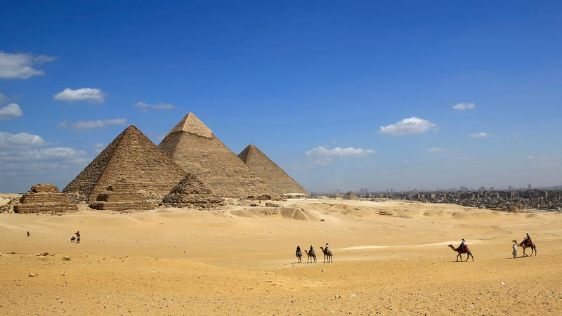 The Giza pyramid complex.