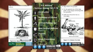 Illustration for article titled Survival Guide Puts the US Military Survival Manual in Your Pocket